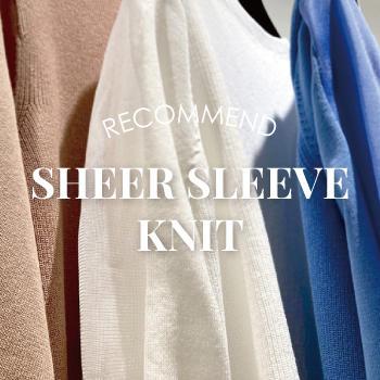 SHEER SLEEVE KNIT